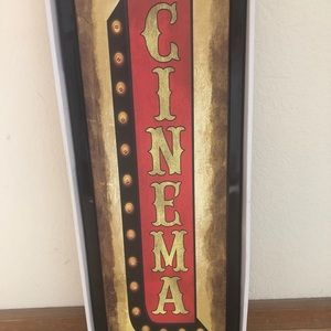 Other - Cinema light up sign